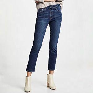 Levi's Curvy Straight Whiskered Mid Denim Jeans